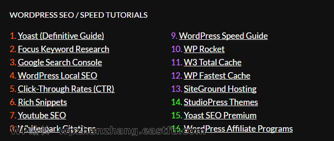 WordPress SEO系列