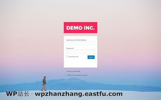 带有自定义徽标的自定义WordPress登录页面