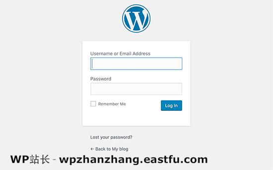默认的WordPress登录屏幕