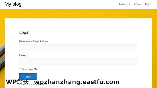 自定义WordPress登录页面