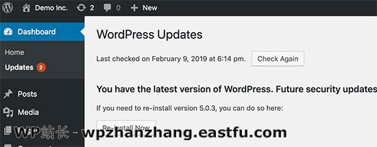 保持WordPress更新