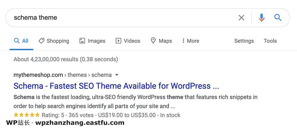 Google搜索结果显示了WooCommerce产品架构