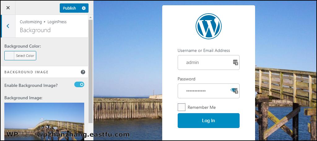 LoginPress WordPress 插件新背景