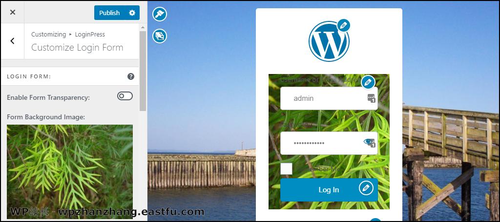 LoginPress WordPress 插件表单背景图片