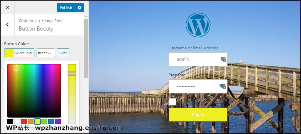 LoginPress WordPress 插件按钮颜色