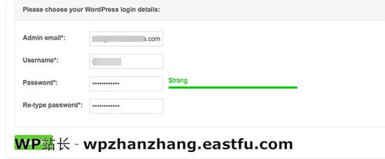 为您的安装输入 WordPress 登录详细信息