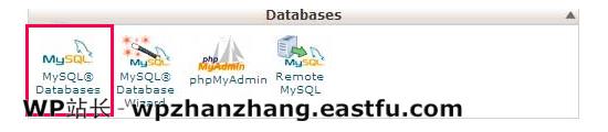 cPanel 中的 MySQL 数据库图标