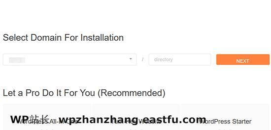 选择您的域名