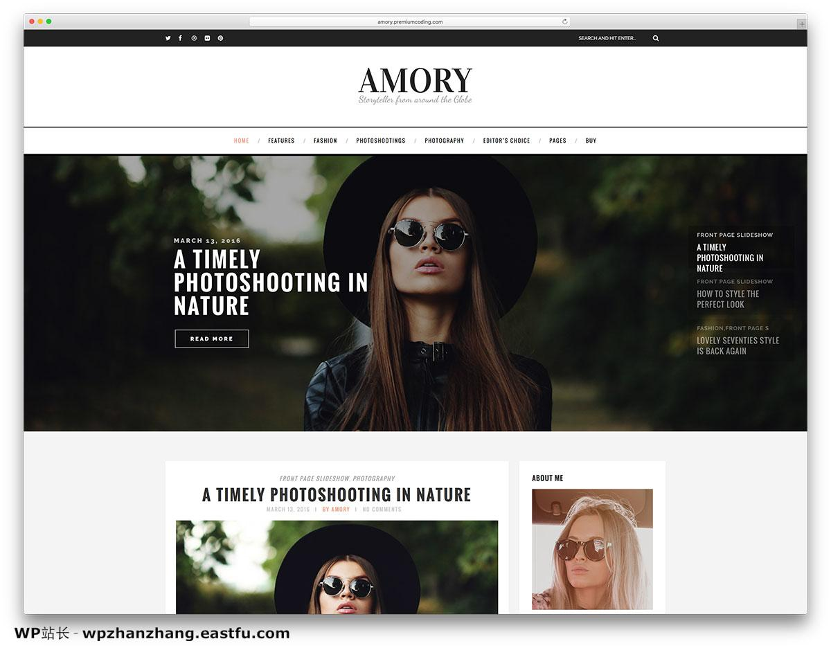 amory-minimal-fashion-blog-wordpress-website-template