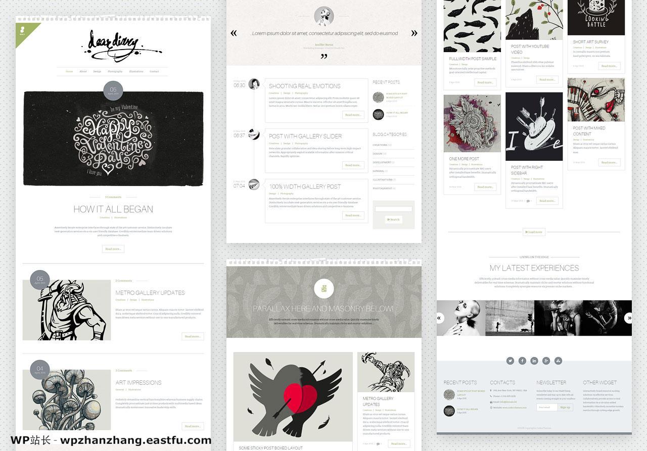 scalia - 创意和最小的博客主题