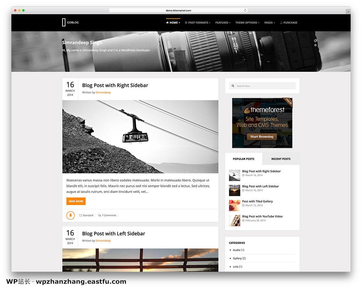 2021年58个最佳个人WordPress博客主题 18