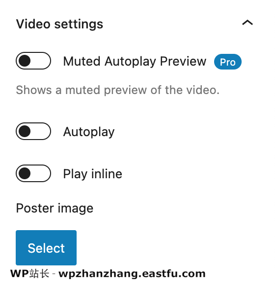 Presto 播放器查看视频设置面板